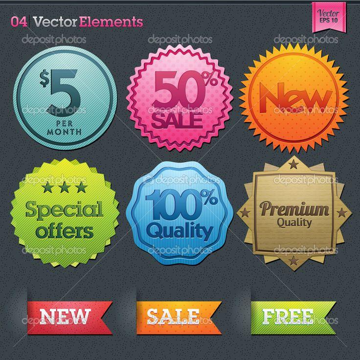 Set of labels for sale #design #vector #eps Download: http://depositphotos.com/12199070/stock-illustration-set-of-labels-for-sale.html?ref=5747528
