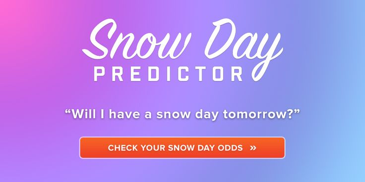 Predict the chance of having a snow day tomorrow. Calculate your odds by entering your ZIP or postal code.