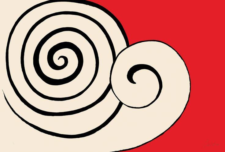 Alexander Calder, Two Spirals, 1974