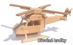 Dřevěné hračka dětský vrtulník