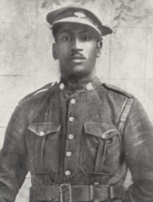 William Lawrence Paris of the #2 Construction Battalion, circa 1916. Colchester Historeum collection, Truro