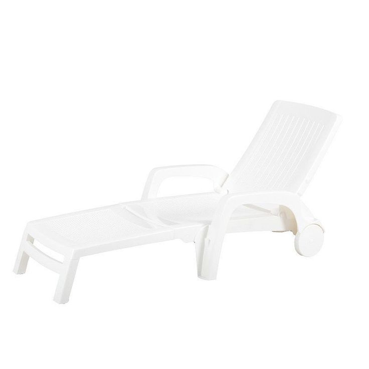 Russ160 Amalfi Folding Lounge Chair (Amalfi Folding Lounge Chair In White), Patio  Furniture (Polypropylene)