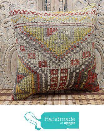Oriental kilim pillow cover 16x16 Bohemian Kilim pillow cover Turkish Handmade kilim Pillow Cover from Kilimwarehouse http://www.amazon.com/dp/B0198C619Y/ref=hnd_sw_r_pi_dp_nrsCwb02705Q7 #handmadeatamazon
