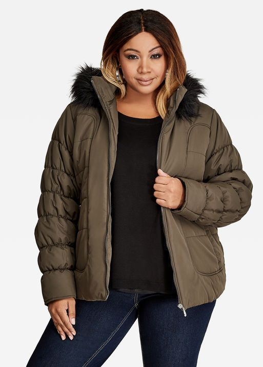 b6a698e04e5 Fashion Bug Plus Size Short Quilted Puffer Coat  FashionBug  PlusSize   Jackets  Coats