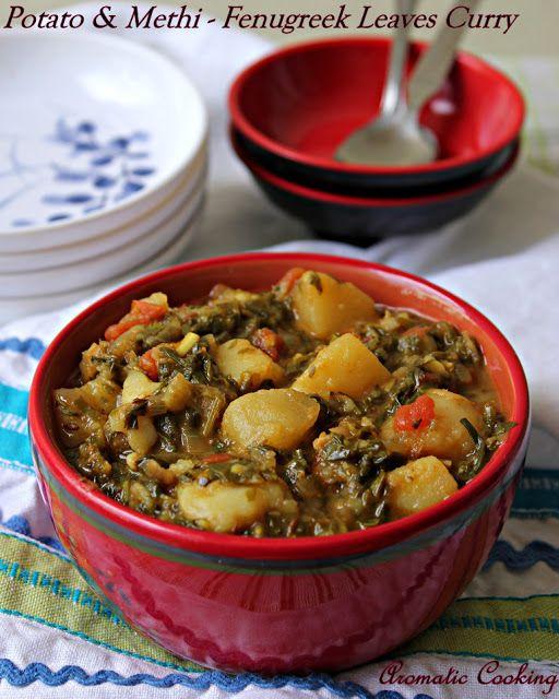 Potato And Methi/Fenugreek Leaves Curry