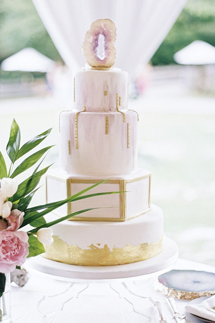 Elegant, not over the top, but can be! Just one sliced agate for a top, use height, layers, sparkle and dimensions by combining shapes and borders says PJ. It's your Wedding Cake, own it with special designs. Destination Weddings, great caterers, all-inclusive, plan your wedding today 503-630-5570. @purewow #specialeventsbyPJ #allgroupsallowed #allweddingsallowed