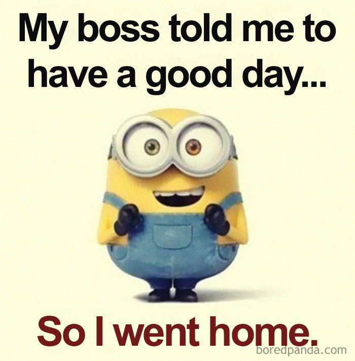The Relationship Between The Boss And The Employee Is Very Important To Company Productivity You Know Wha Funny Minion Quotes Minions Funny Funny Minion Memes