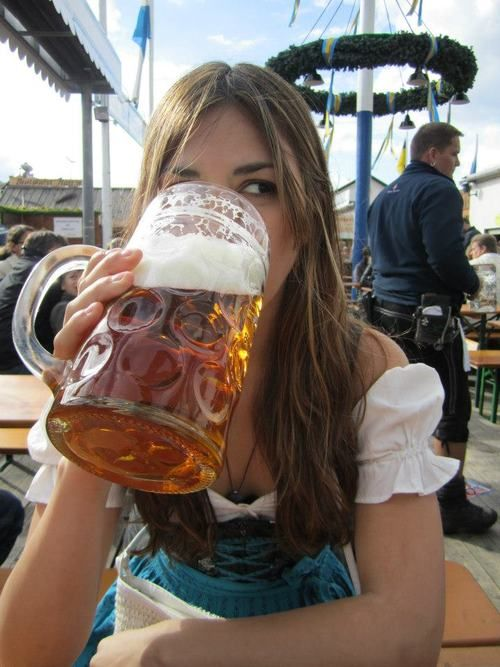 Drinking Single in a Double Beer...  I think that's how the song goes???  Munich, Germany