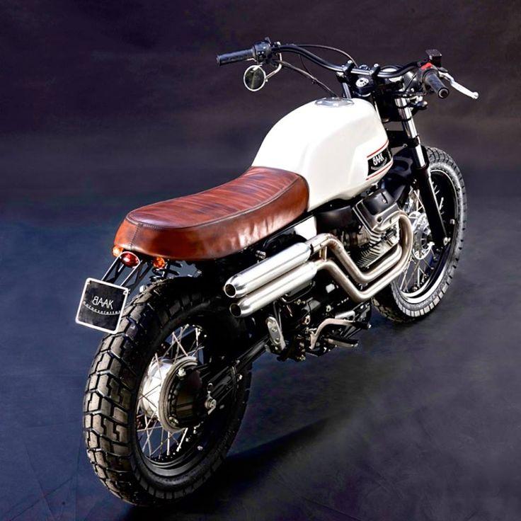Moto Guzzi V7 Scrambler by BAAK Motorcycles | Scrambler | Pinterest | Moto guzzi, Motorcycle and Bike