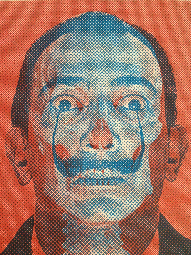 Dali and skeleton silkscreen print - withinkreach