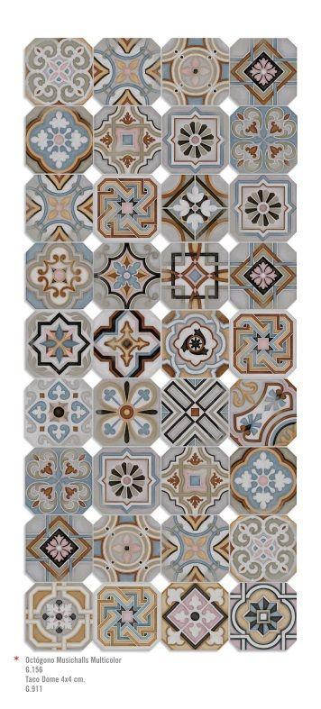 Керамическая плитка в стиле пэчворк