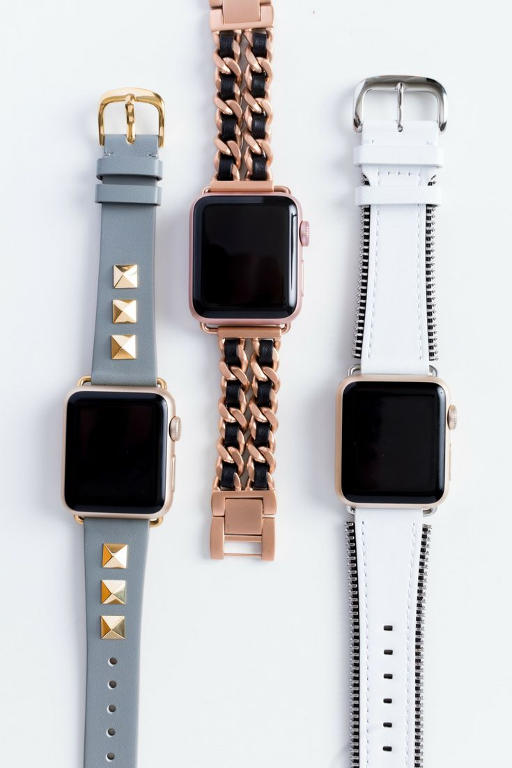 Apple watch bands for the fashion set...studs, chainlink