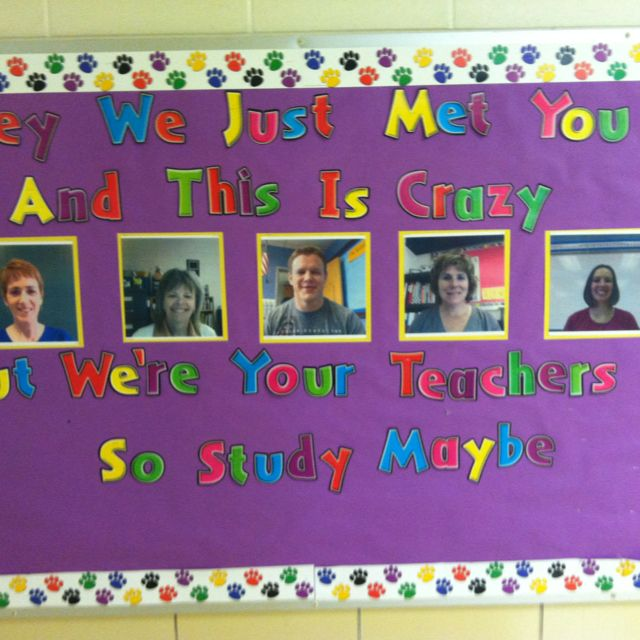 Pretty excited about our team 39 s back to school bulletin for Pretty bulletin board