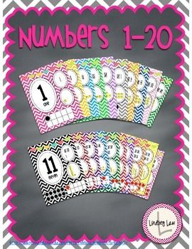 This chevron themed numbers 1-20 will add color to any classroom. Students will…