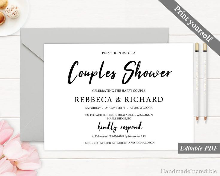 163 best Bridal Shower Invitation images on Pinterest Invitation - Bridal Shower Invitations Template