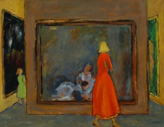 Exhibition , Sketch for the Painting - Jozef Czapski 1977 Polish…