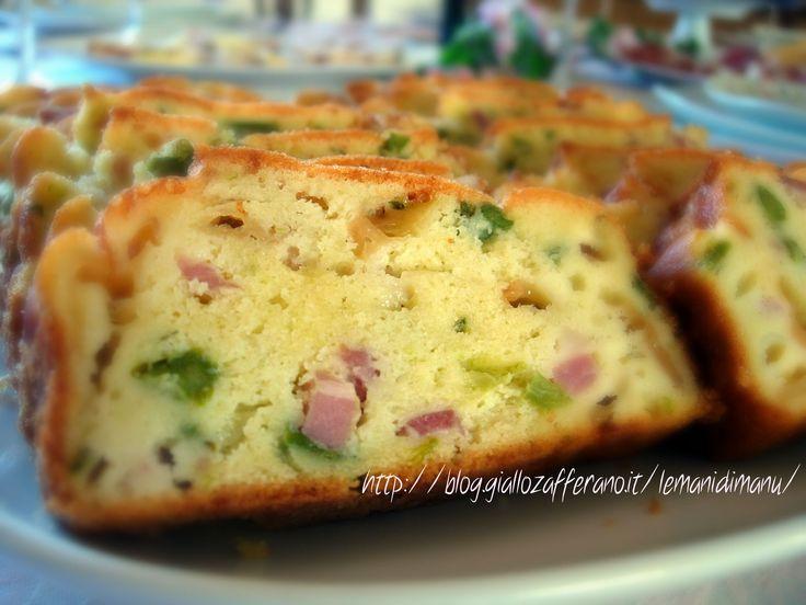 Plumcake rustico salato | Ricetta primaverile | Le Mani Di Manu