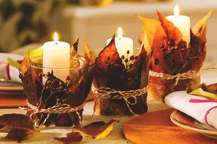 beauty fall autumn Witch candles witchcraft magical atmosphere wiccan wicca beautiful nature Witchery dry leaves warm and cosy dry herbs