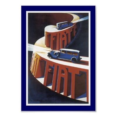 Deco Fiat Poster design