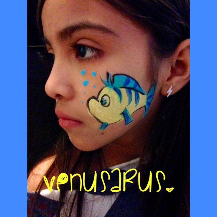 16 best mermaid face paint images on pinterest face paintings disney little mermaid flounder facepaint facepainting solutioingenieria Image collections