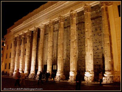 """Explore Rome's ruins by night - they sure know how use lighting to its full potential!  Find out more at """"Down the Wrabbit Hole - The Travel Bucket List"""". Click the image for the blog post."""