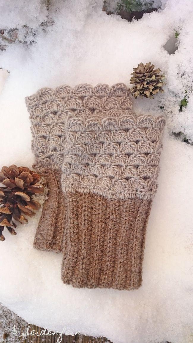 Stulpen, mittens, Handstulpen, Handschuhe, häkeln, Wollhandschuhe, Garten im Winter, garden winter, Snow, crochet, crocheting, Tutorial, Landleben, country life