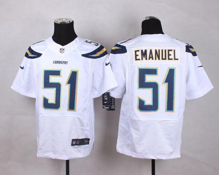 Men's NFL San Diego Chargers #51 Kyle Emanuel White Elite Jersey