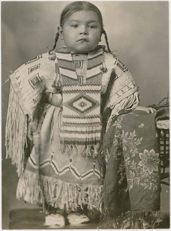 :::::::::::: Antique Photograph :::::::::::: Amazing beaded dress on this little Cheyenne girl.  1915 Oklahoma.