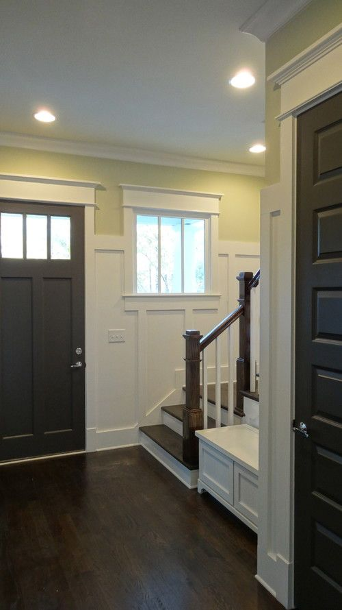 Design specs for interior trim: recreate the look in this photo except that our wainscoting will only come up half our vertical wall height.