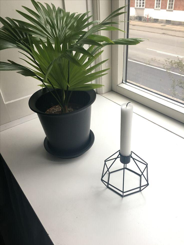 Fin lysestage fra lagerhaus i Malmø 😍 og plante og potte fra IKEA