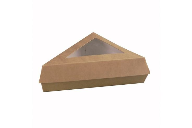 Caja de cartón kraft para porción de tarta, perfecta para negocios de repostería