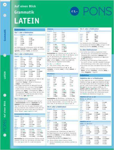 PONS Grammatik auf einen Blick Latein: kompakte Übersicht, Grammatikregeln nachschlagen: Amazon.de: Maria Anna Söllner: Bücher
