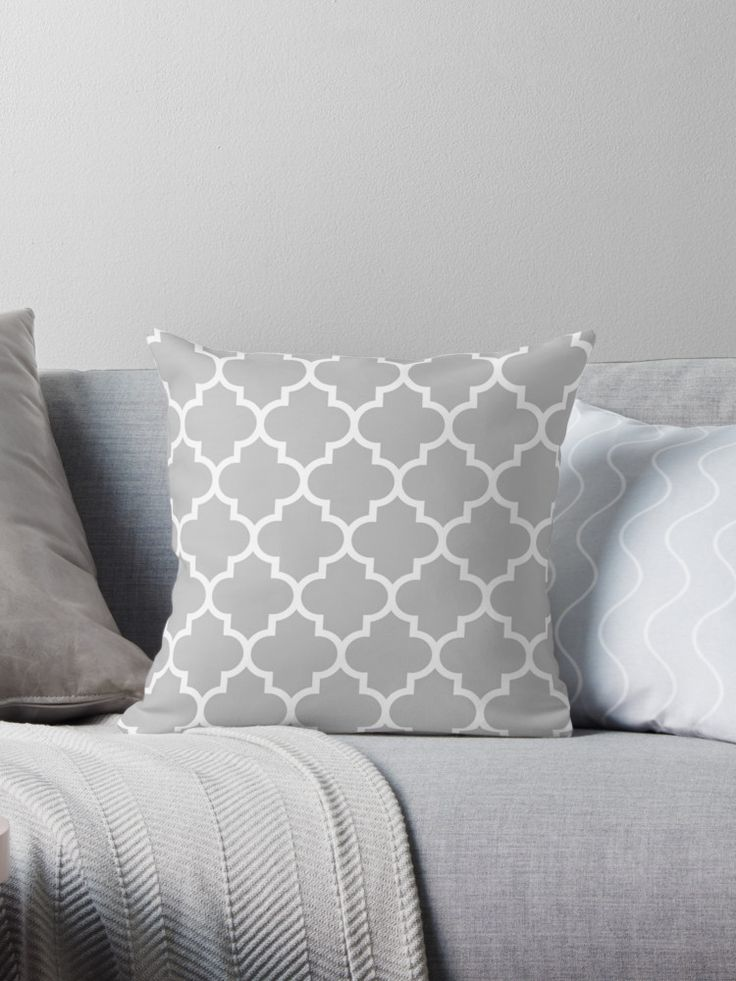 Quatrefoil White On Silver Gray • Also buy this artwork on home decor, apparel, and bags.