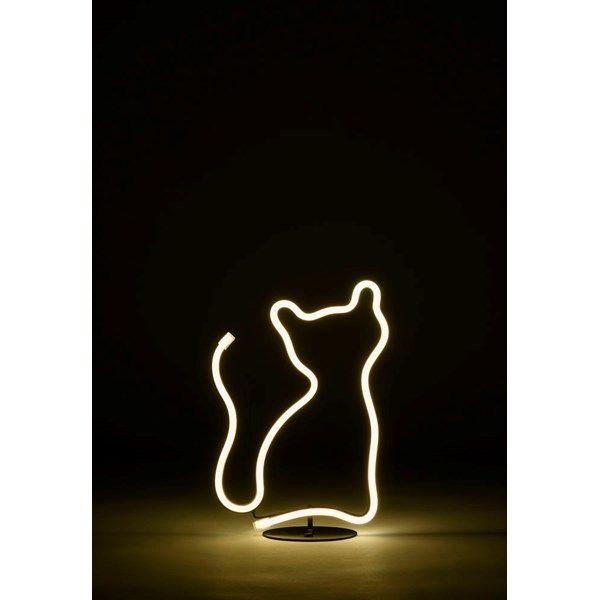 Fräscha Dekorationsbelysning neon LED Katt 19x26 cm Batteridriven. Inom FW-96