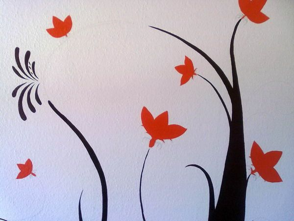 Exceptional Simple Wall Murals Art Design Ideas
