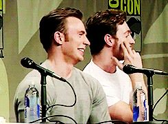 Chris Evans and Aaron Taylor Johnson, SDCC '14