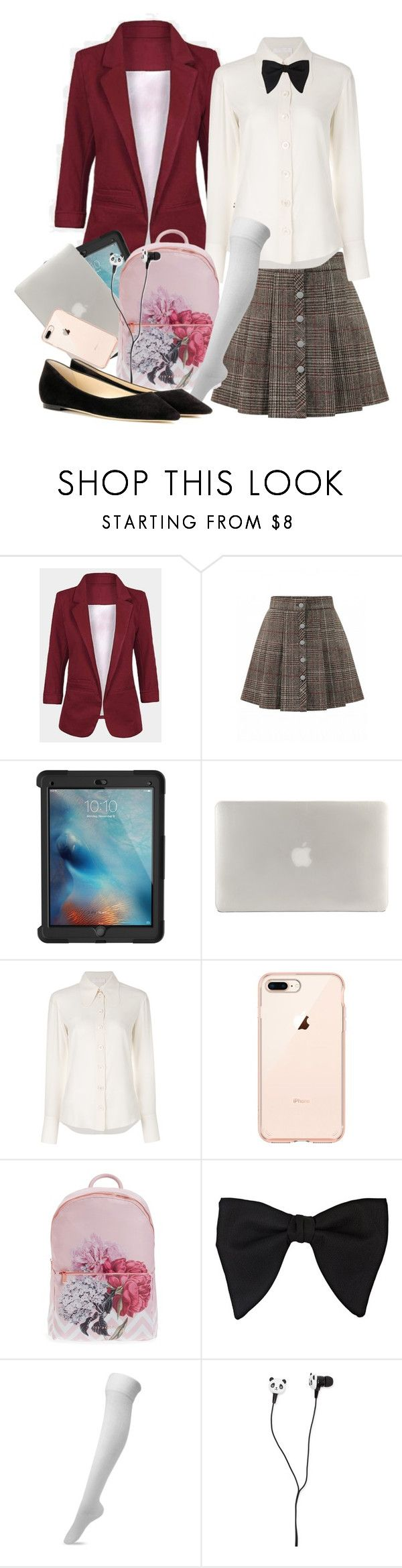 """""""Untitled #545"""" by tearasakuramori ❤ liked on Polyvore featuring Griffin, Tucano, Chloé, Ted Baker, Gucci, Forever 21 and Jimmy Choo"""