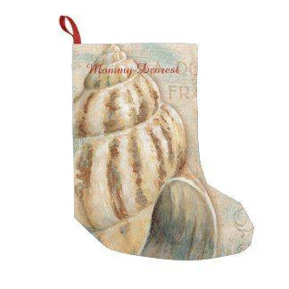 Beachy Christmas Stocking Conch Shell