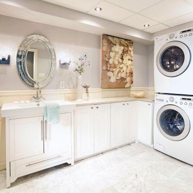 Une salle de lavage spacieuse et lumineuse - Salle de bain - Inspirations - Décoration et rénovation - Pratico Pratique