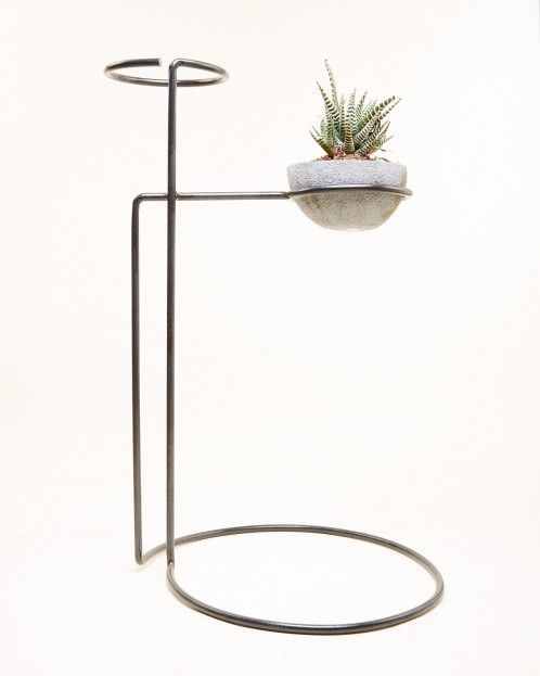 Mohawk General Store Dual Plant Stand in Black