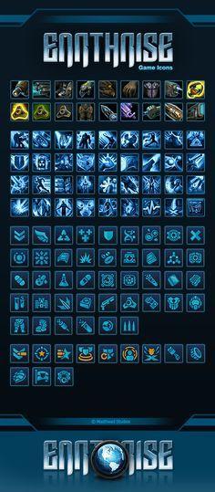 earthrise (game) icon set