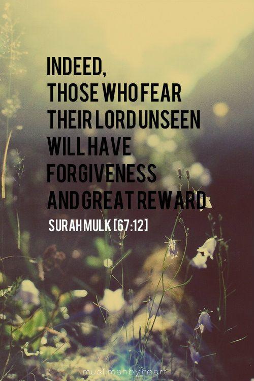 Forgiveness and reward