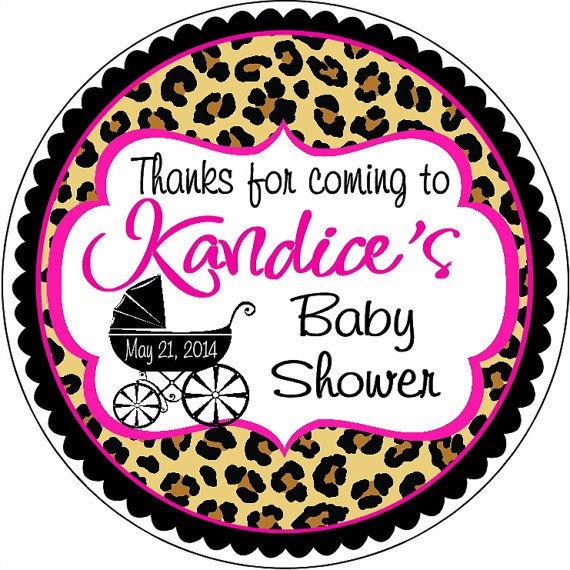 Leopard Print Baby Shower Supplies: 1000+ Ideas About Baby Shower Tags On Pinterest
