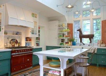 Farmhouse - farmhouse - Kitchen - Los Angeles - Alison Kandler Interior Design Range: Lacanche