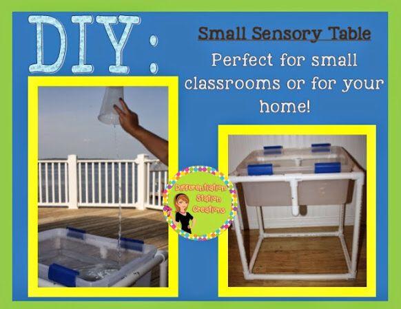 Space saving and portable sensory table