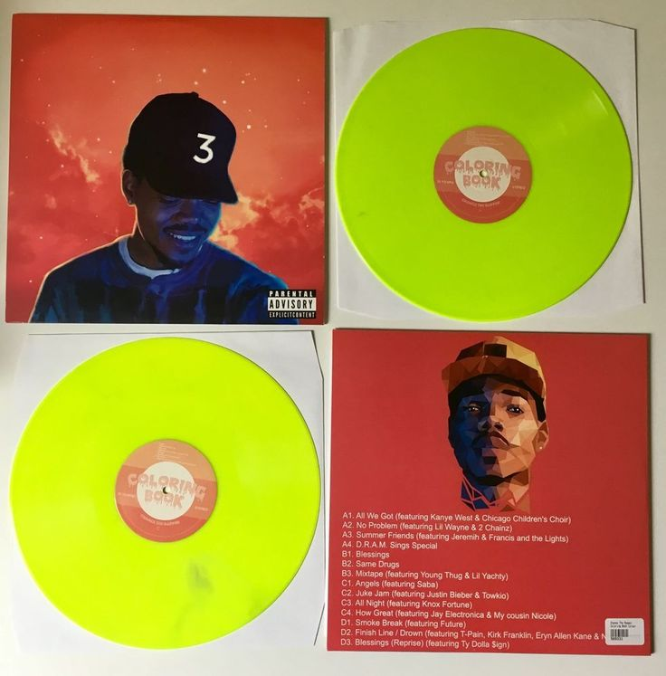 Chance The Rapper Coloring Book Vinyl 2LP NEON Green
