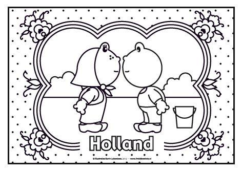 Een ouderwets plaatje met Frokkie en Lola op z'n oud hollands in klederdracht.