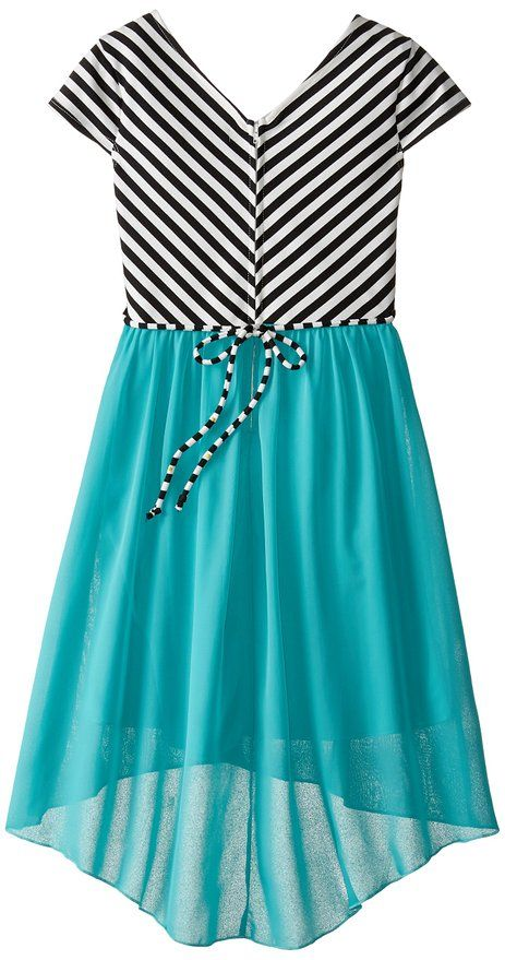 Click here to purchase:    Speechless Big Girls' High Low Dress With Crossed Bodice, Jade, 7