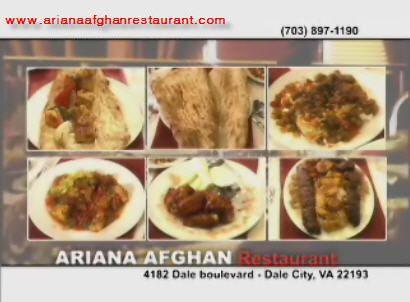 Ariana afghan restaurant dale city virginia favorite for Ariana afghan cuisine menu