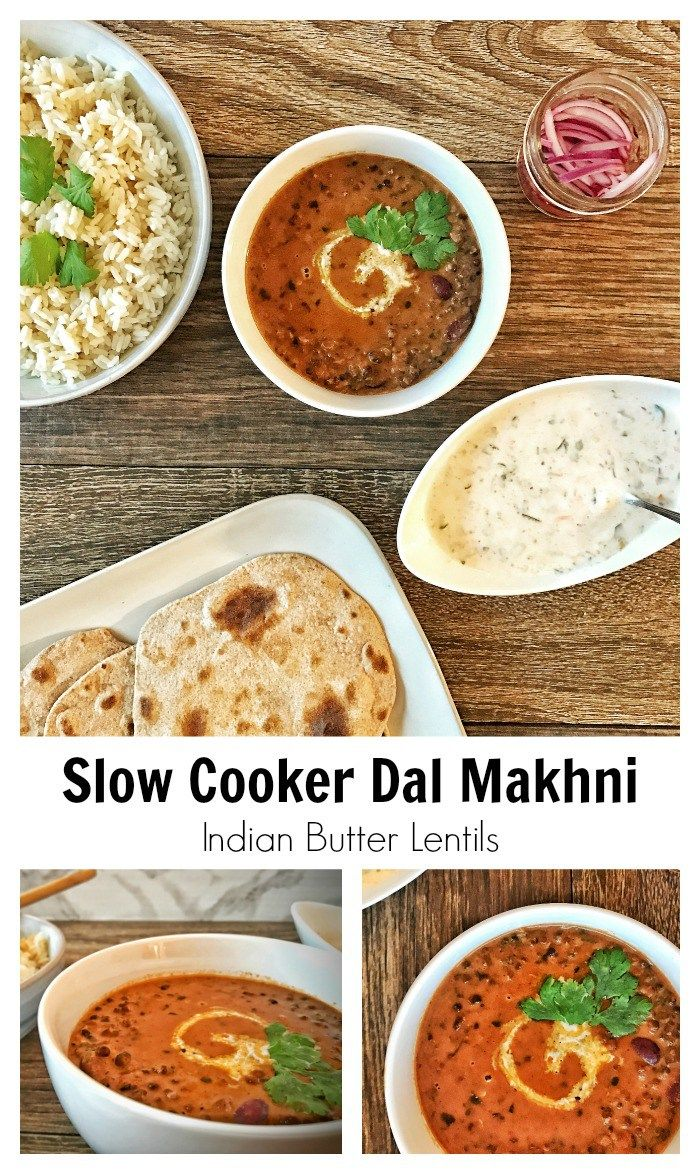 Slow Cooker Dal Makhni is easy, healthier Indian food with all the traditional flavors!